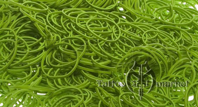 Bright Green 12 Rubber Bands - Pkg. 1000