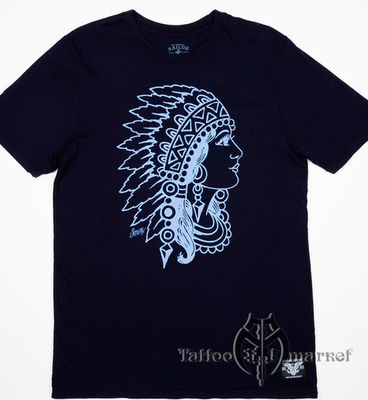 Indian Head Navy Tee