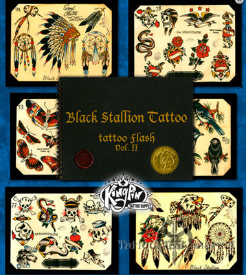 Black Stallion Tattoo Flash Vol 2