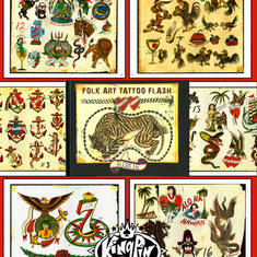 Rosie - Folk Art Tattoo Flash