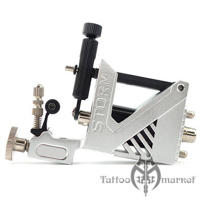 STORM V2 ADJ SILVER ROTARY TATTOO MACHINE
