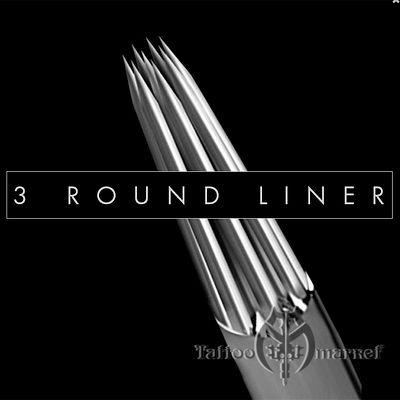 Иглы татуировочные  KWADRON 0.30mm long taper - 3RL