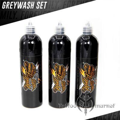Краска World Famous Tattoo Ink World Famous Charcoal Greywash Set 3