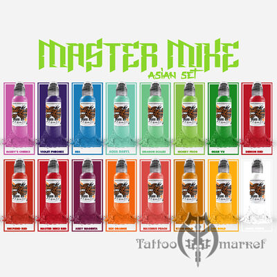 Краска World Famous Tattoo Ink Master Mike Asian Tattoo Set 16