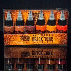 MAKS KORNEV'S BRICK TONE COLOR SET - 6шт