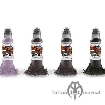 Краска World Famous Tattoo Ink SLOVAK BLUSH SKIN TONE SET - 4шт
