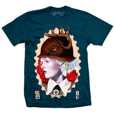 Queen of battle mens tee (indigo)