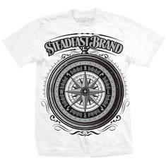 Steampunk Compass Mens Tee (white)