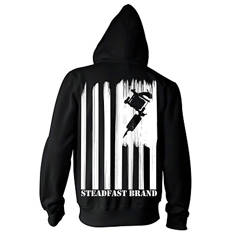 Steadfast nation zip up hoodie (black)