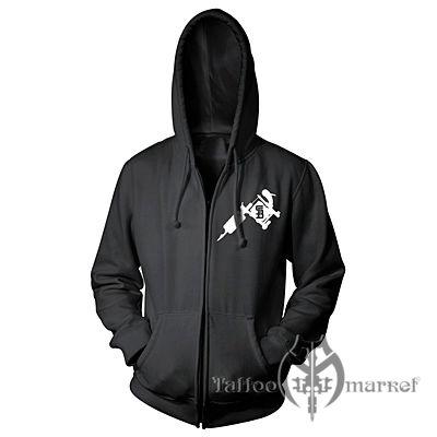 Steadfast nation zip up hoodie (black)