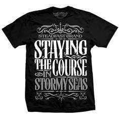 Staying the course mens tee (black)