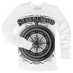 Steampunk compass mens thermal (white)