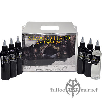 World famous tattoo ink silvano fiato black wash for Waverly tattoo ink