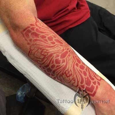 S8 RED TATTOO STENCIL PAPER