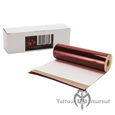 S8 RED TATTOO STENCIL PAPER - 100' ROLL