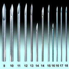 Иглы пирсинг 18 G - 1.0 мм
