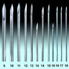 Иглы пирсинг 15 G - 1.4 мм