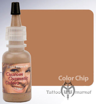 Пигмент для татуажа Custom Cosmetic Сolors Light Brown - Светло-коричневый