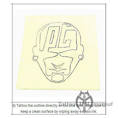 Кожа для татуировки 10х10см