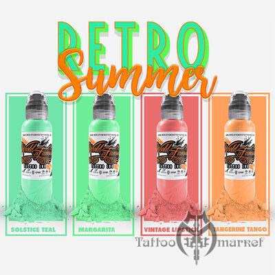 Краска World Famous Tattoo Ink Damian Gorski Retro Summer Set 4шт