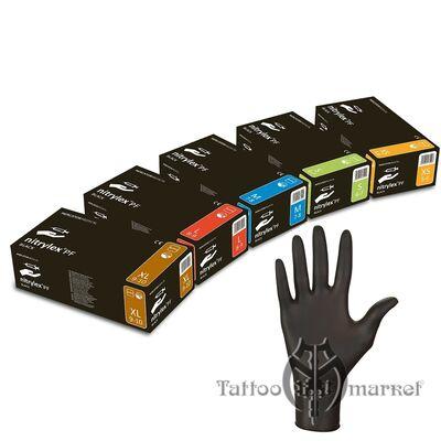 Перчатки Черные нитриловые Nitrylex PF
