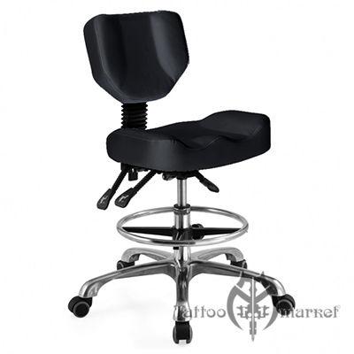 Регулируемый поворотный стул со спинкой
