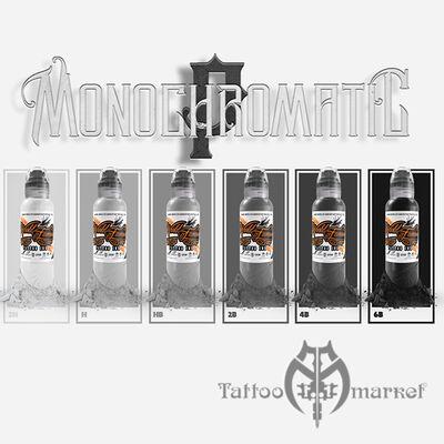 Краска World Famous Tattoo Ink Poch's Monochromatic Set 6шт