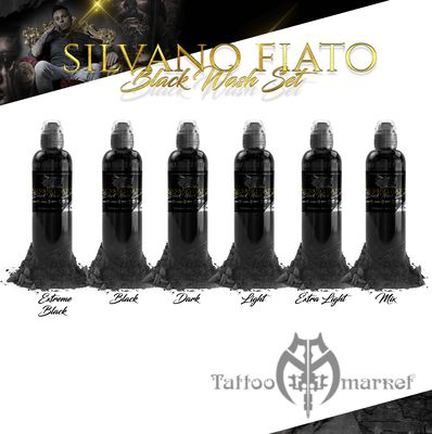 Краска World Famous Tattoo Ink SILVANO FIATO BLACK