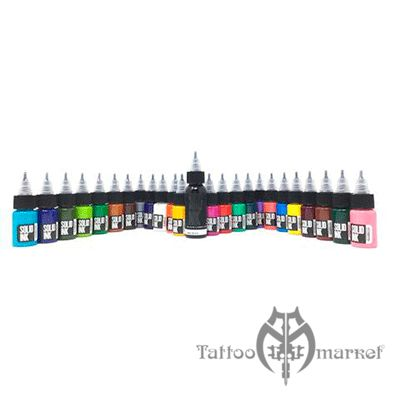 25 Colors Travel Set ( 24 colors + 1oz Lining Black )