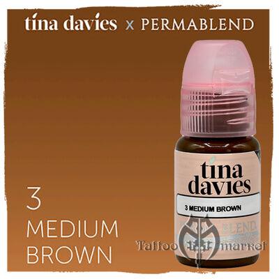 Tina Davies 'I Love INK' 3 Medium Brown
