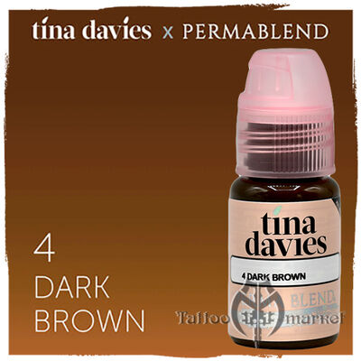 Tina Davies 'I Love INK' 4 Dark Brown