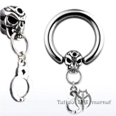 """Кольцо """"С черепом и наручниками"""""""