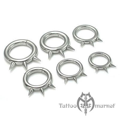 "Кольцо сегментное ""Три шипа"", диаметр 12мм, толщина 2,5"