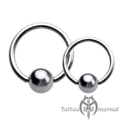 Кольцо с шариком, толщина 1,6 мм, шарик 6 мм