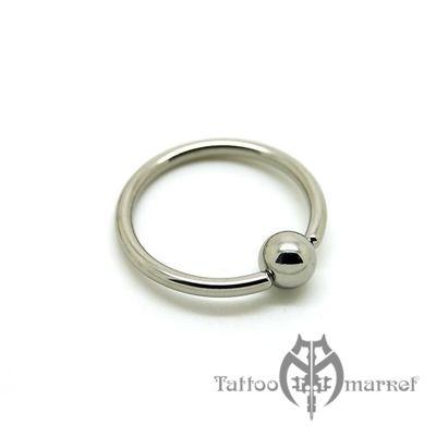 Кольцо с шариком, толщина 1,8 мм, шарик 4 мм
