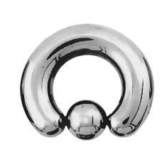 Кольцо с шариком №1, толщина 5 мм, шарик 8 мм