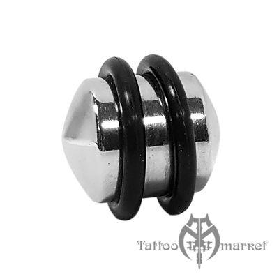 """Плаг """"Хирургическая сталь с резинками"""", диаметр 14 мм"""