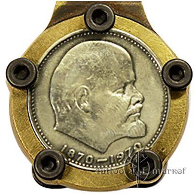 """Бронзовая педаль """"Портрет Ленина"""""""