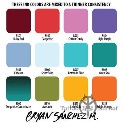 Краска Eternal Bryan Sanchez M. Watercolor Ink Set