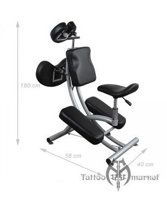 Мебель для тату салона Комфортное кресло с наколенниками De Luxe класса
