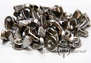 Бронзовый барашек с никелированным покрытием