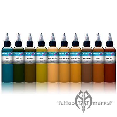 Набор 10 цветов планеты Земля - Earth Tones Color Tattoo Ink Set