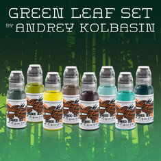 Green Leaf Set by Andrey Kolbasin