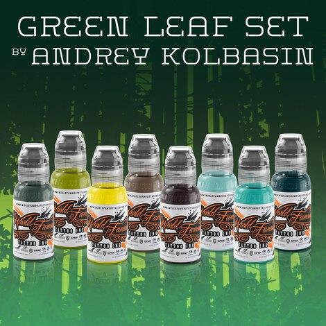 Краска World Famous Tattoo Ink Green Leaf Set by Andrey Kolbasin