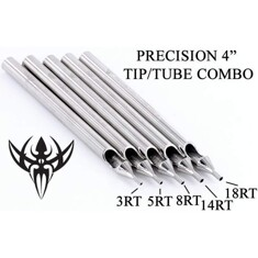 5RT Tattoo  Round Stainless Steel Long Tip