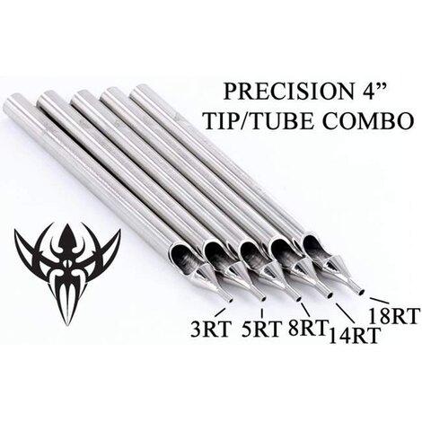 Носики-лейки нержавеющая сталь Precision Tips 5RT Tattoo  Round Stainless Steel Long Tip