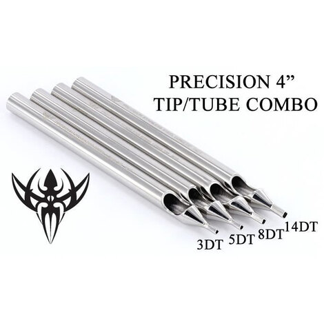 Носики-лейки нержавеющая сталь Precision Tips 3DT Tattoo Diamond Stainless Steel Long Tip