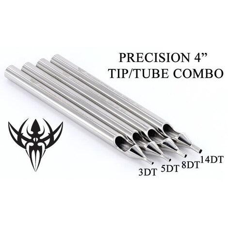 Носики-лейки нержавеющая сталь Precision Tips 8DT Tattoo Diamond Stainless Steel Long Tip