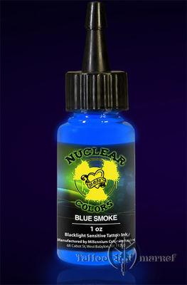 Светящаяся, ультрафиолетовая краска MOM Nuclear Colors UV Tattoo Ink Blue Smoke UV - Синий