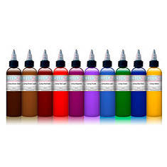 INTENZE Color Lining Ink Series - набор из 10 для цветных контуров